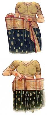 How to wear an Indian Saree