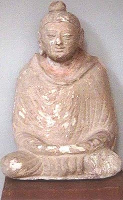 Buddha Image (Stucco) from Mathura. 1st century A.D