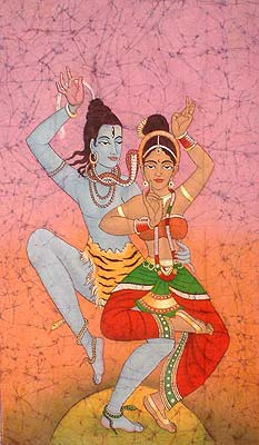The Celestial Dance of Shiva and Parvati