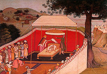 Bharata Worships the Sandals of His Beloved Rama, Guler, ca. 1780 A.D.