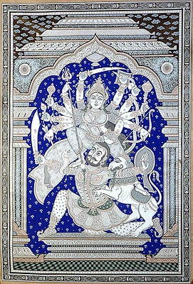 Goddess Durga Slaying the Demon Mahishasur