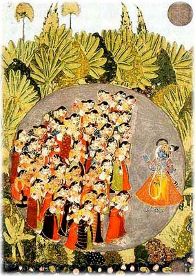 Krishna Admonishes the Gopis
