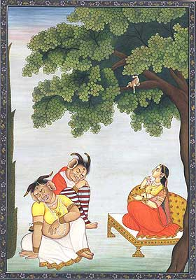 Hanuman Presents Rama's Ring to Sita at Ashoka-vatika