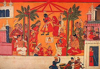Marriage of Rama and His Three Brothers, Mandi, ca 1750 A.D.