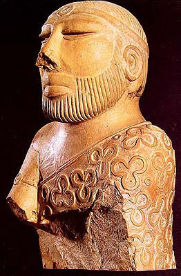 The Priest with Trefoil Drape (Indus Valley: 3300-1300 B.C.)