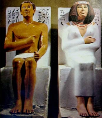 Egyptian prince Rehotep and his wife Nefert