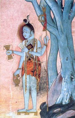 Shiva and the Damaru