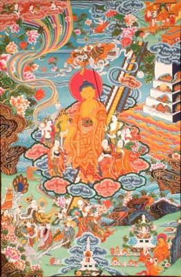 Gautam Buddha Descends from Heaven