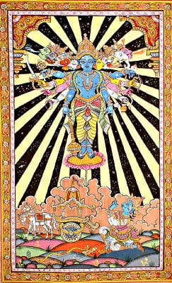 The Cosmic Form of Krishna (Vishvarupa from the Bhagavad Gita)