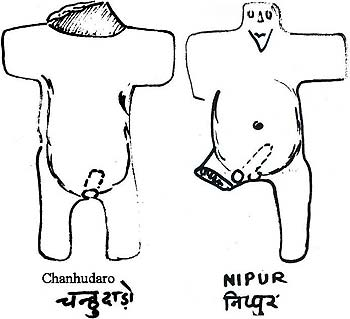 Line Drawing Images from Chanhudaro & Nipur