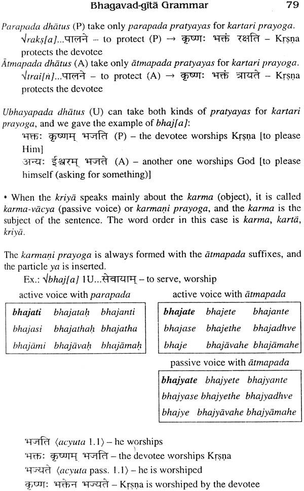 Sanskrit Bhagavad Gita Grammar Volume One Introduction