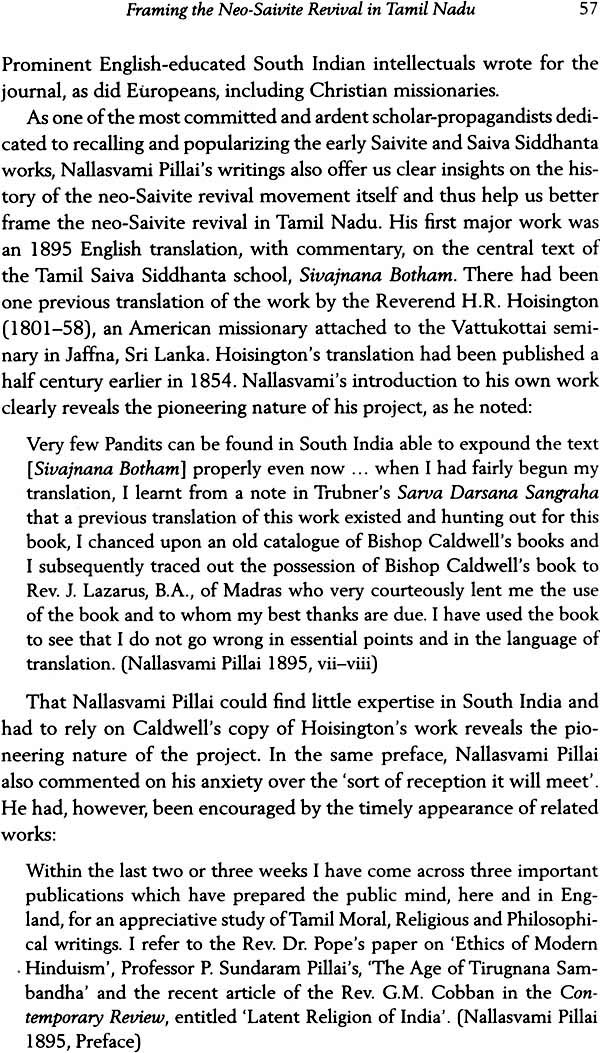Religion, Caste, and Nation in South India (Maraimalai Adigal, The  Neo-Saivite Movement, and Tamil Nationalism 1876-1950)