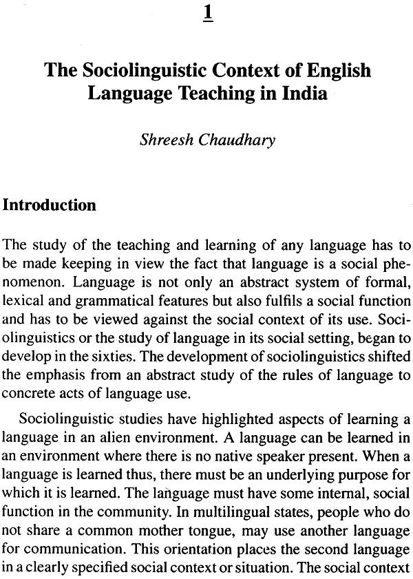 sociolinguistic in language teaching Language seems to obviously apply to language at the lexical level it has long been recognized that different words have different emotive values.