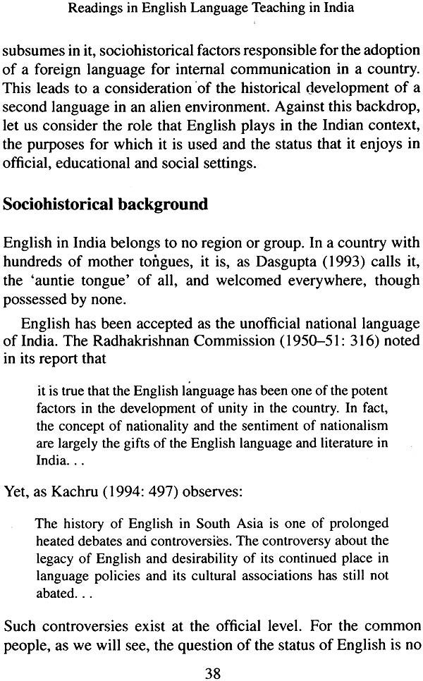 thesis on english language teaching in india Reconciling linguistic diversity: they felt it should enjoy continued use as an official language in india english is the three language formula of education.