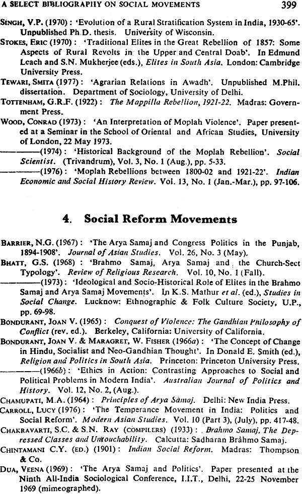 social movements in india Social movements hasn't been a popular topic with researchers, making up less than 3 per cent of all studies in history, political science, sociology and anthropology sponsored by the indian council of social science research (icssr) up to the mid-nineties.
