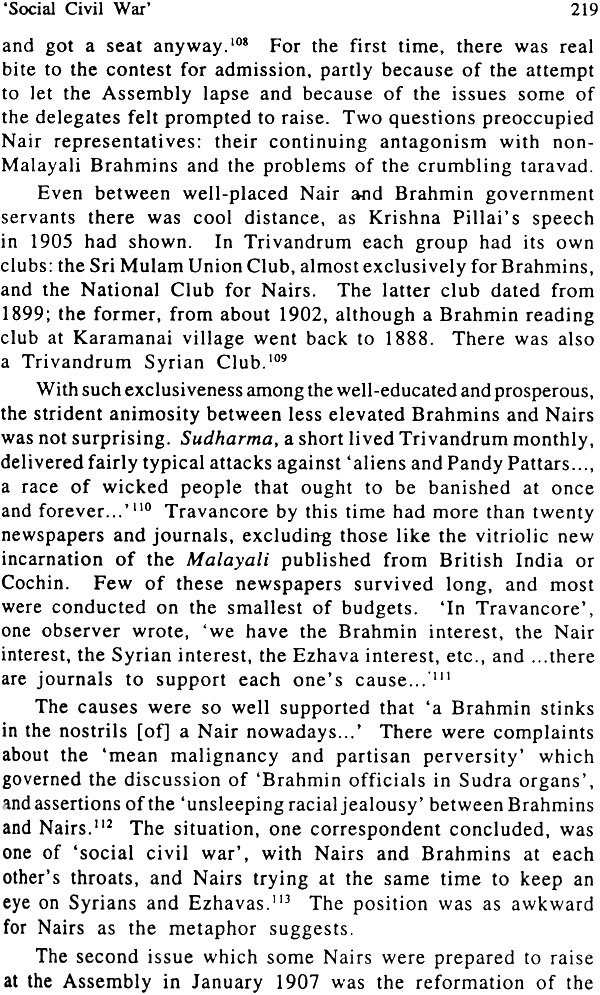 The Decline of Nair Dominance (Society and Politics in Kerala 1847-1908)