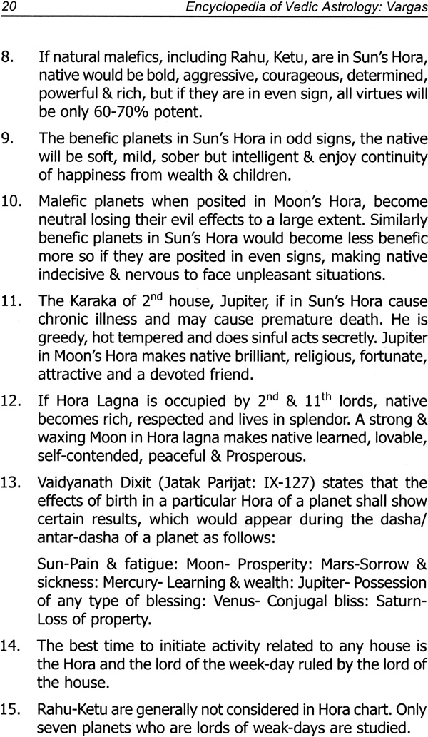 Vargas (Encyclopedia of Vedic Astrology)