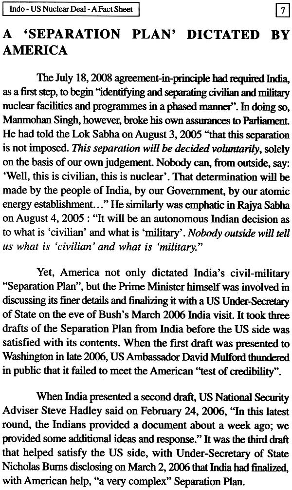indo-us nuclear deal essay Essay on the indo-us nuclear deal article shared by after long and intensive discussions, the indo-us civilian nuclear deal has finally materialized and the much debated 123 agreement was formally announced on july 27, 2007, with india categorically stating that it would retain the right to conduct fires nuclear tests and its strategic.