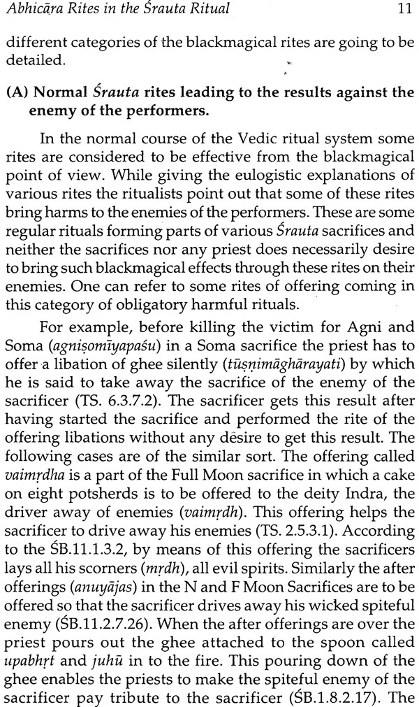 Abhicara Rites In The Veda
