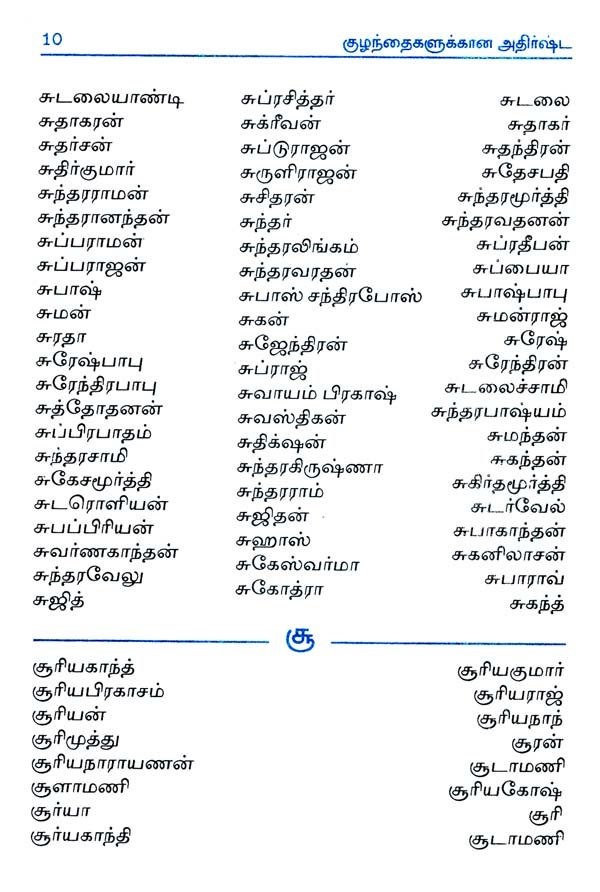 12++ New baby name list in tamil ideas