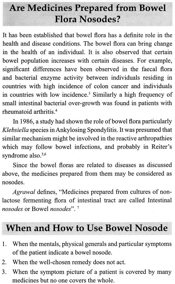 An Update on Bowel Nosodes With Comparisons