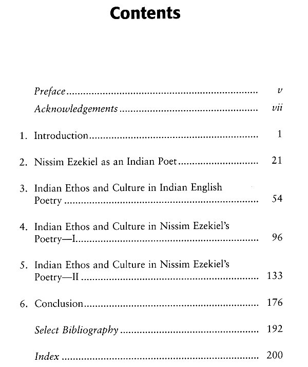 Indian Ethos and Culture in Nissim Ezekiel's Poetry (A Critical Study)