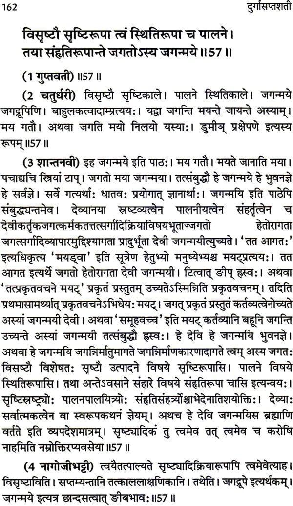 दुर्गा सप्तशती: Durga Saptashati Sanskrit Text Only with Seven Commentaries  (Set of 2 Volumes)
