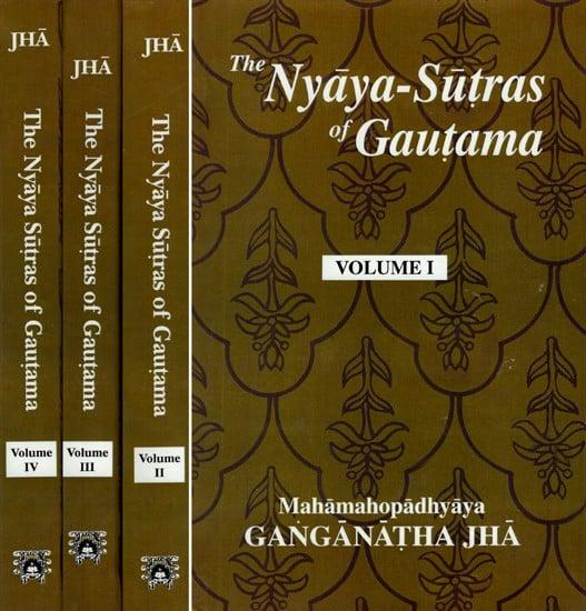The Nyaya-Sutras Of Gautama: With The Bhasya Of Vatsyayana And The Vartika  Of Uddyotakara ( Set of 4 Volumes)