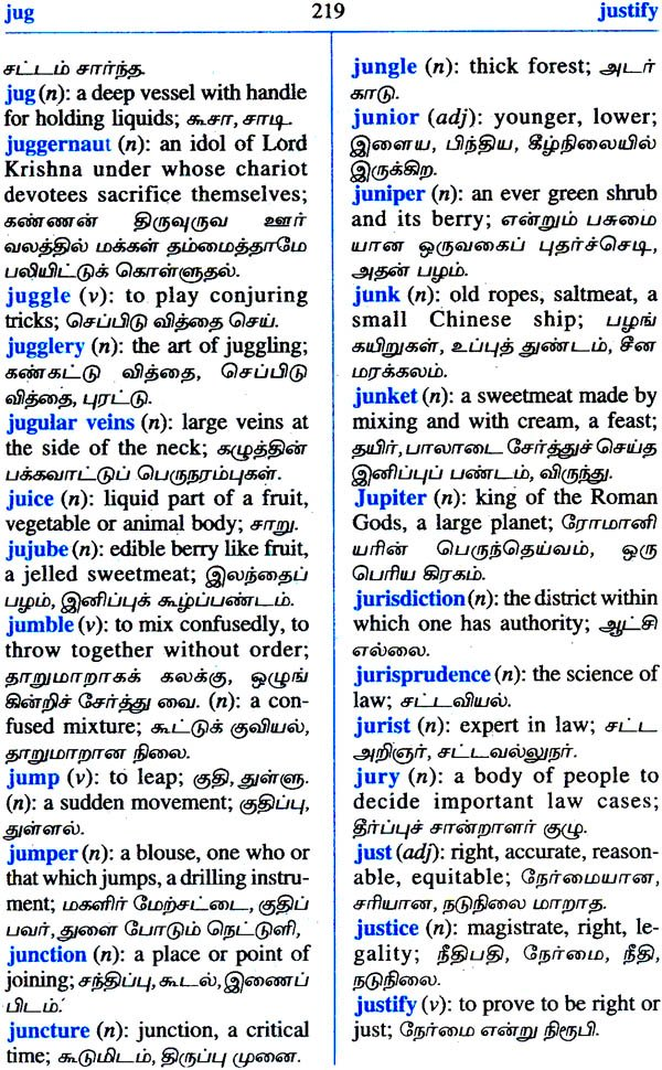Online English to Tamil Dictionary