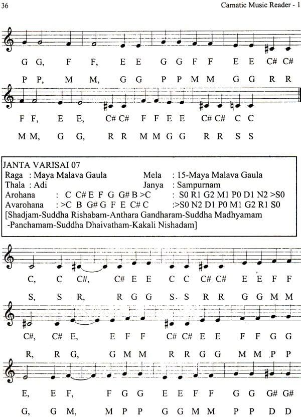 Carnatic Music Reader In Western Staff Notation A Primer For Guitar Piano Keyborad Saxophone Violin Set Of 7 Volumes
