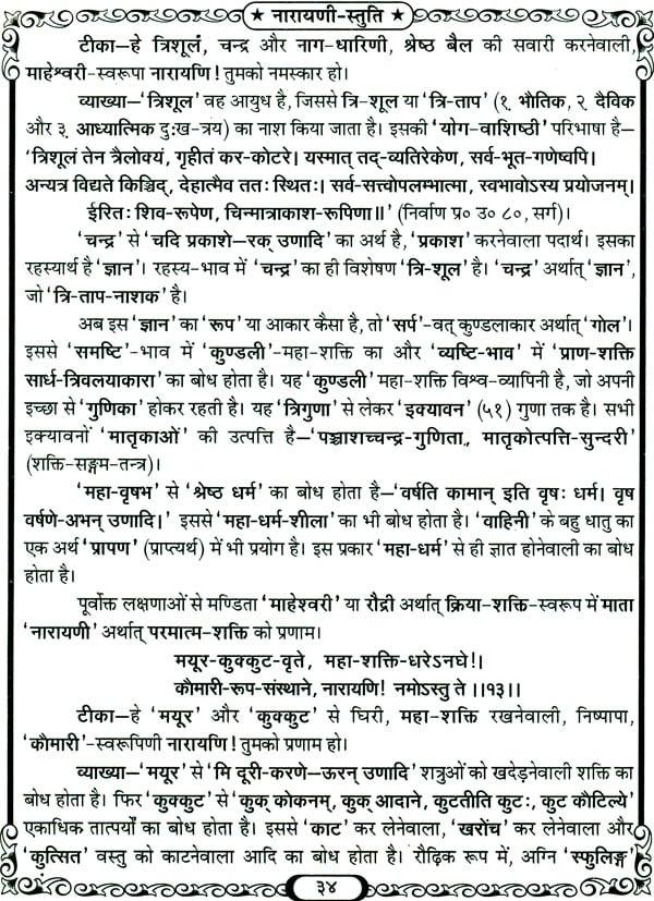 नारायणी स्तुति (संस्कृत एवं हिंदी अनुवाद)- Narayani Stuti