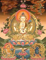 Chenrezig (Shadakshari Avalokiteshvara)