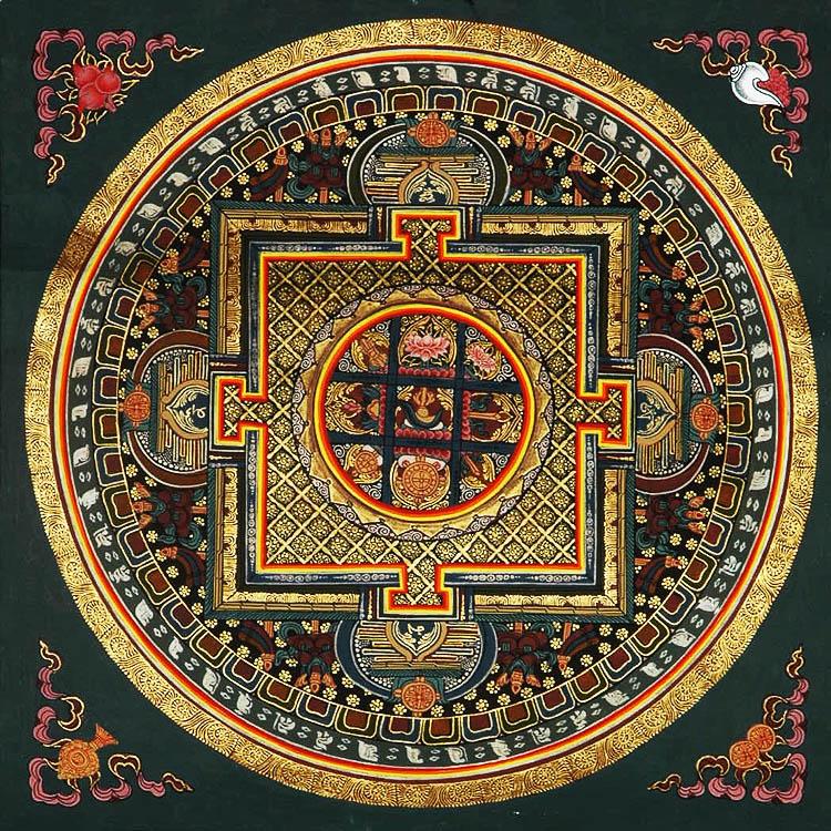 Mandala With Symbols Of Guhyasamaja Akshobhyavajra
