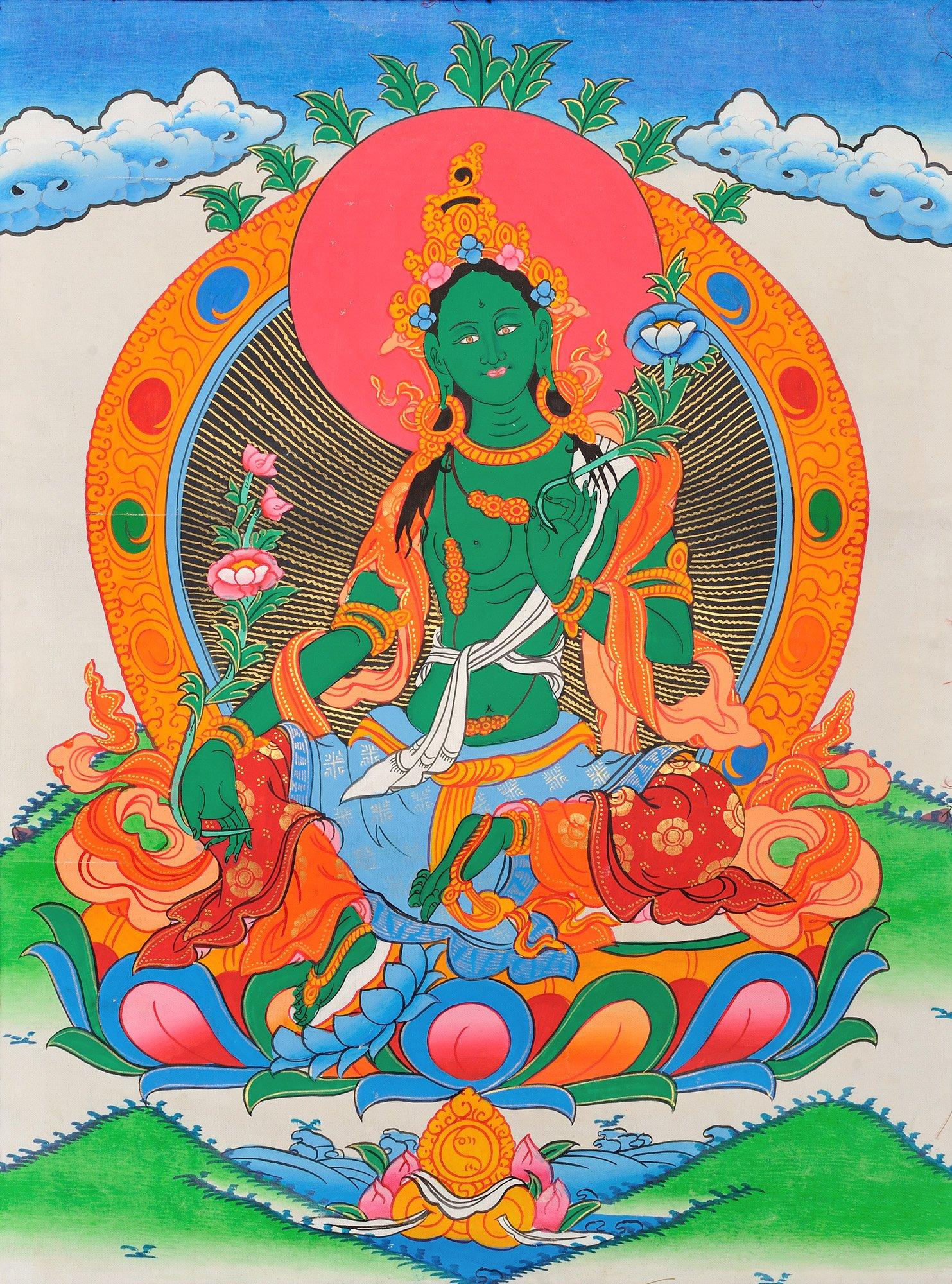 Green Tara 3: The Beautiful Tibetan Buddhist Goddess