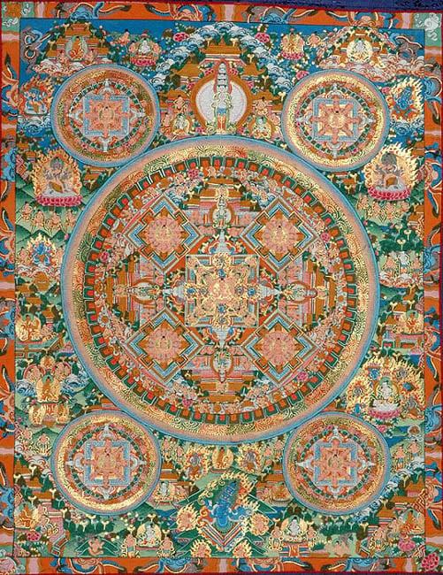 The grand mandala of vairochana buddha - Grand mandala ...