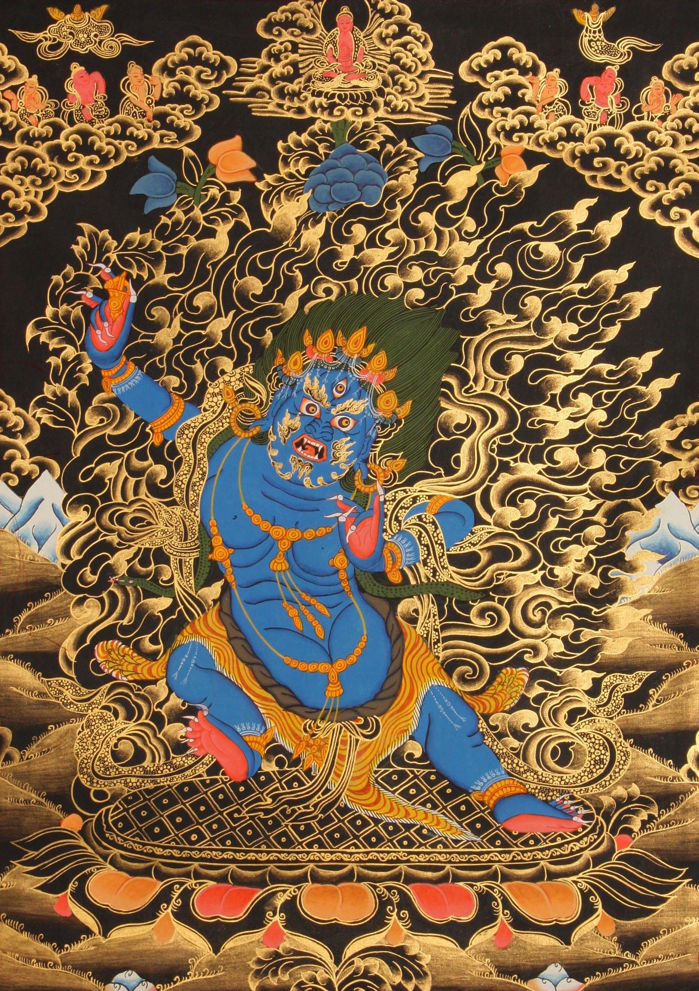 Two Armed Mahakala Tibetan Buddhist Deity