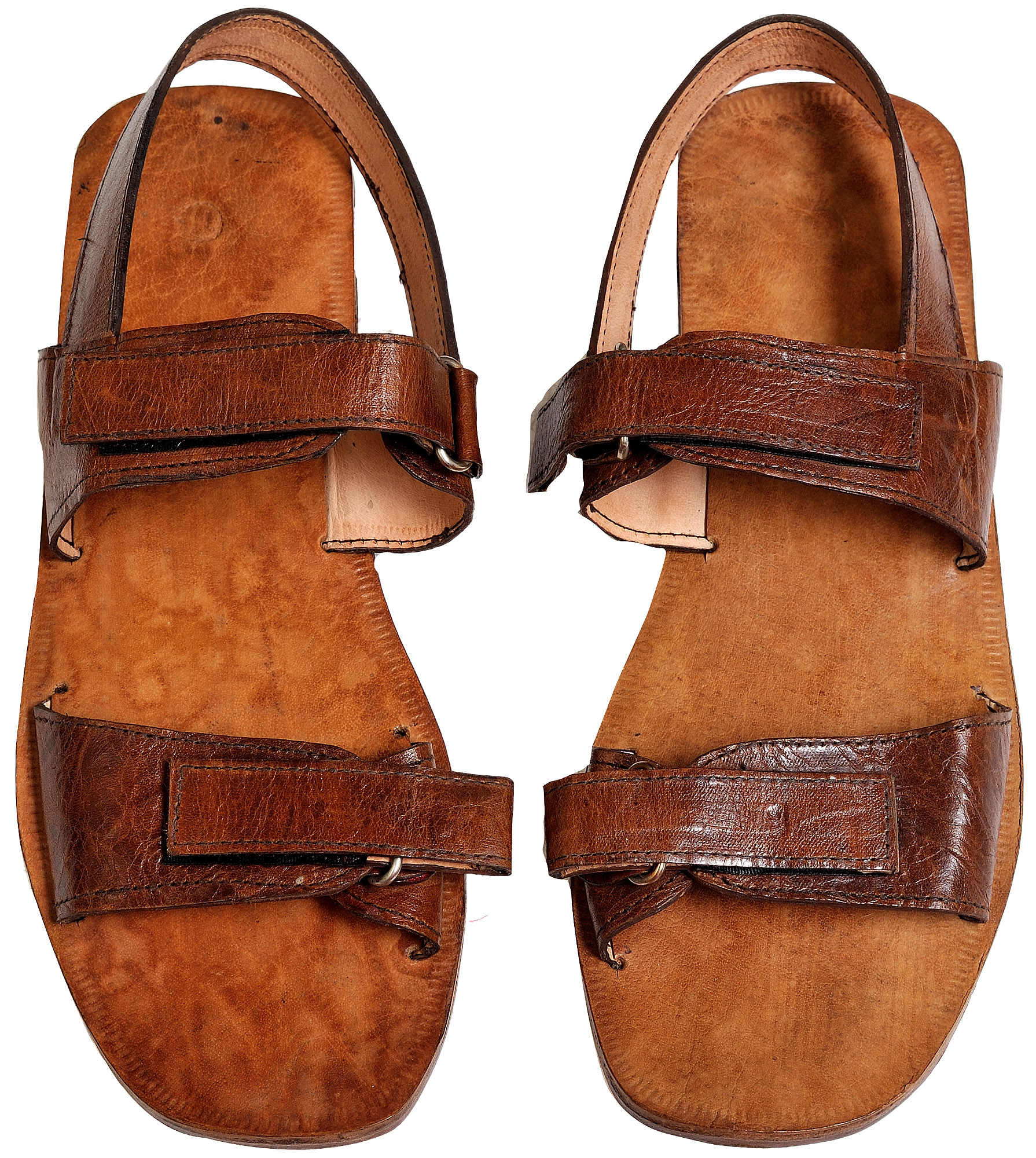9e012358565141 Triple-Strapped Brown Sandals for Men from Jodhpur