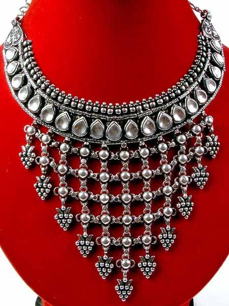 Long chandelier necklace fallcreekonline kundan chandelier necklace aloadofball Gallery