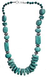 Aqua Green Beaded Necklace