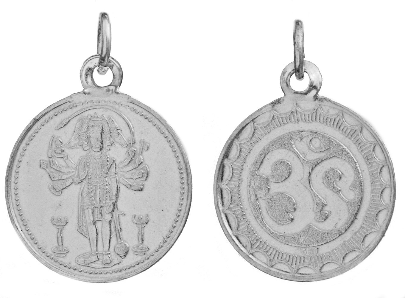 Panchamuga Anjaneyar (Five-Headed Hanuman) Pendant with OM ... - photo#20