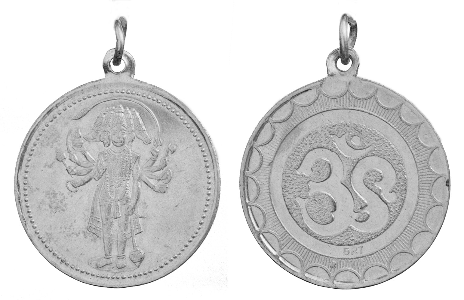 Panchamuga Anjaneyar (Five-Headed Hanuman) Pendant with OM ... - photo#21