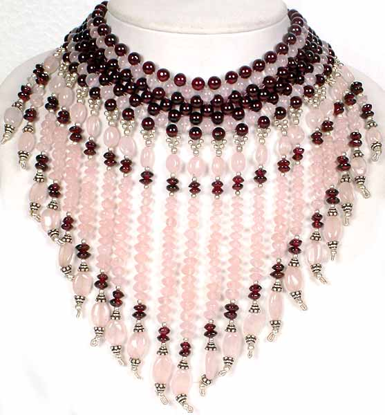 Rose quartz and garnet chandelier necklace chandelier necklace displaying 1 of 380 previous next aloadofball Images