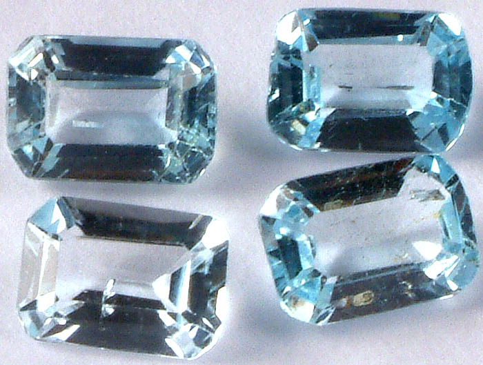 blue topaz mm octagonals price per 4 pieces. Black Bedroom Furniture Sets. Home Design Ideas