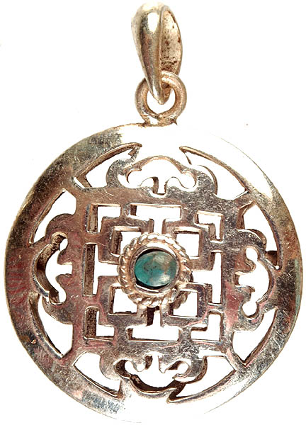10 Kitchen And Home Decor Items Every 20 Something Needs: Double-Sided Mandala Pendant With Central Turquoise And Coral