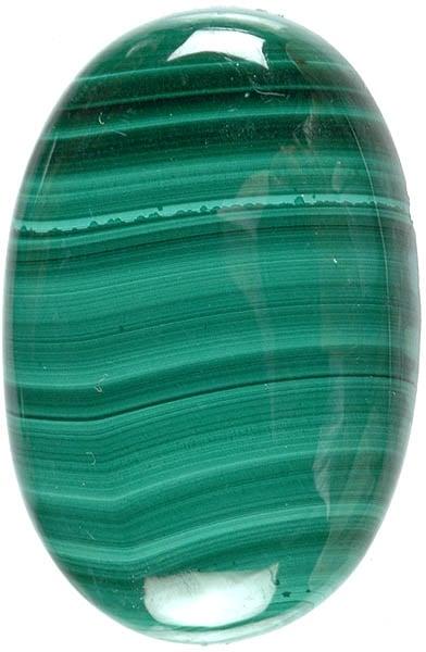 Malachite 16x19 Oval Flat-Back Gemstone Cabochon 17.60 cts M185