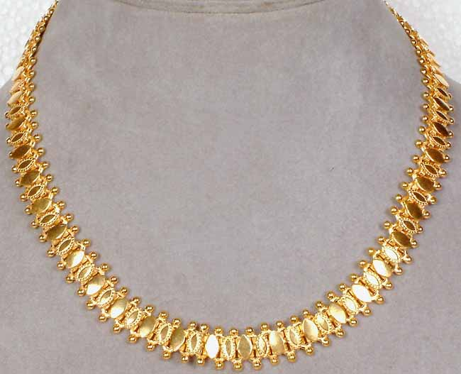 Sterling gold plated necklace from rajasthan for Is gold plated jewelry worth anything