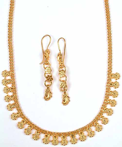 Sterling gold plated necklace from ratangarhi with for Is gold plated jewelry worth anything