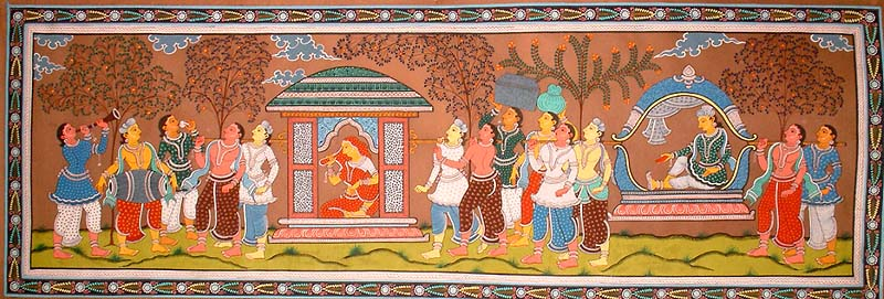 Hindu Wedding Art Painting
