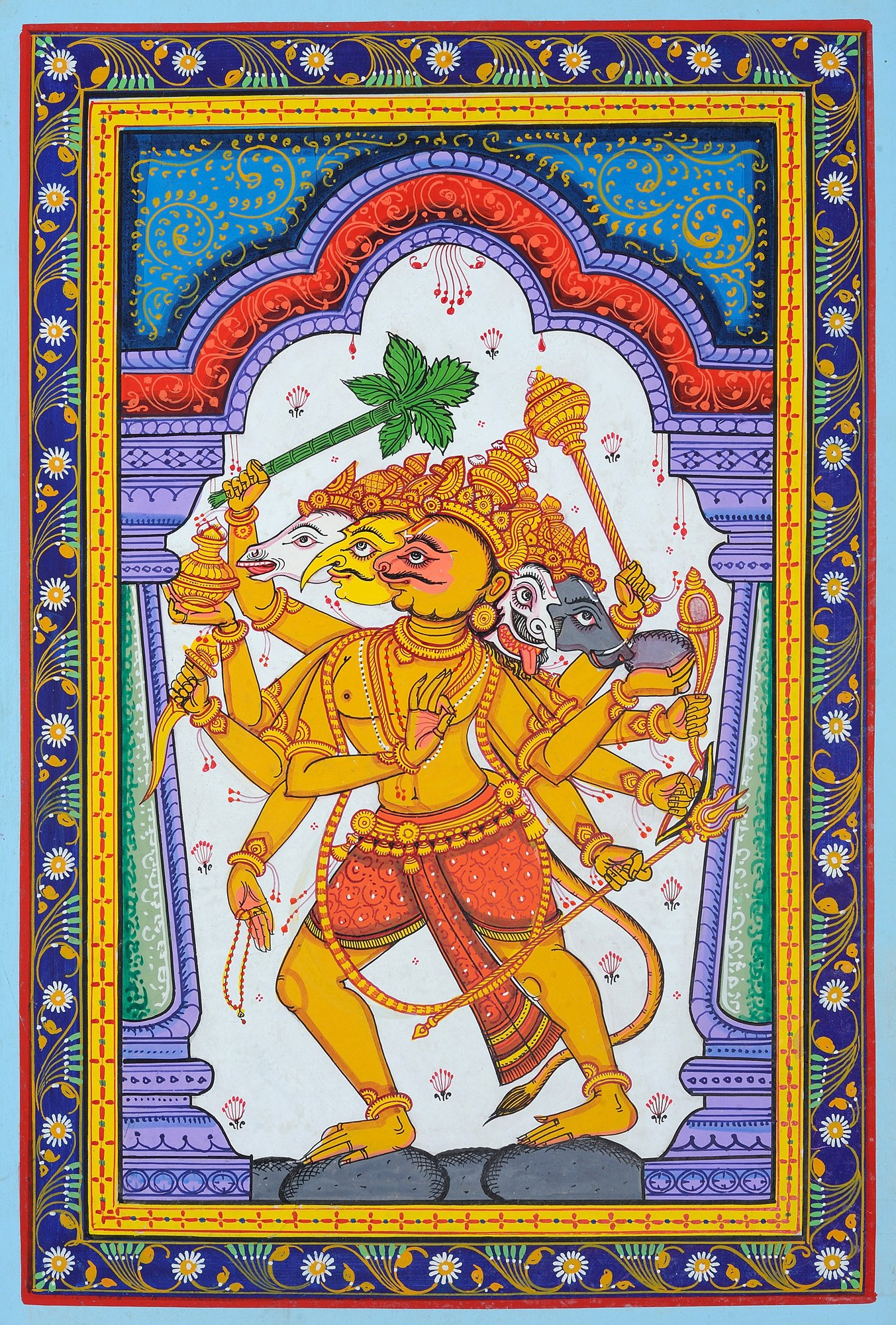 Five Headed Hanuman as Eleventh Rudra - photo#17