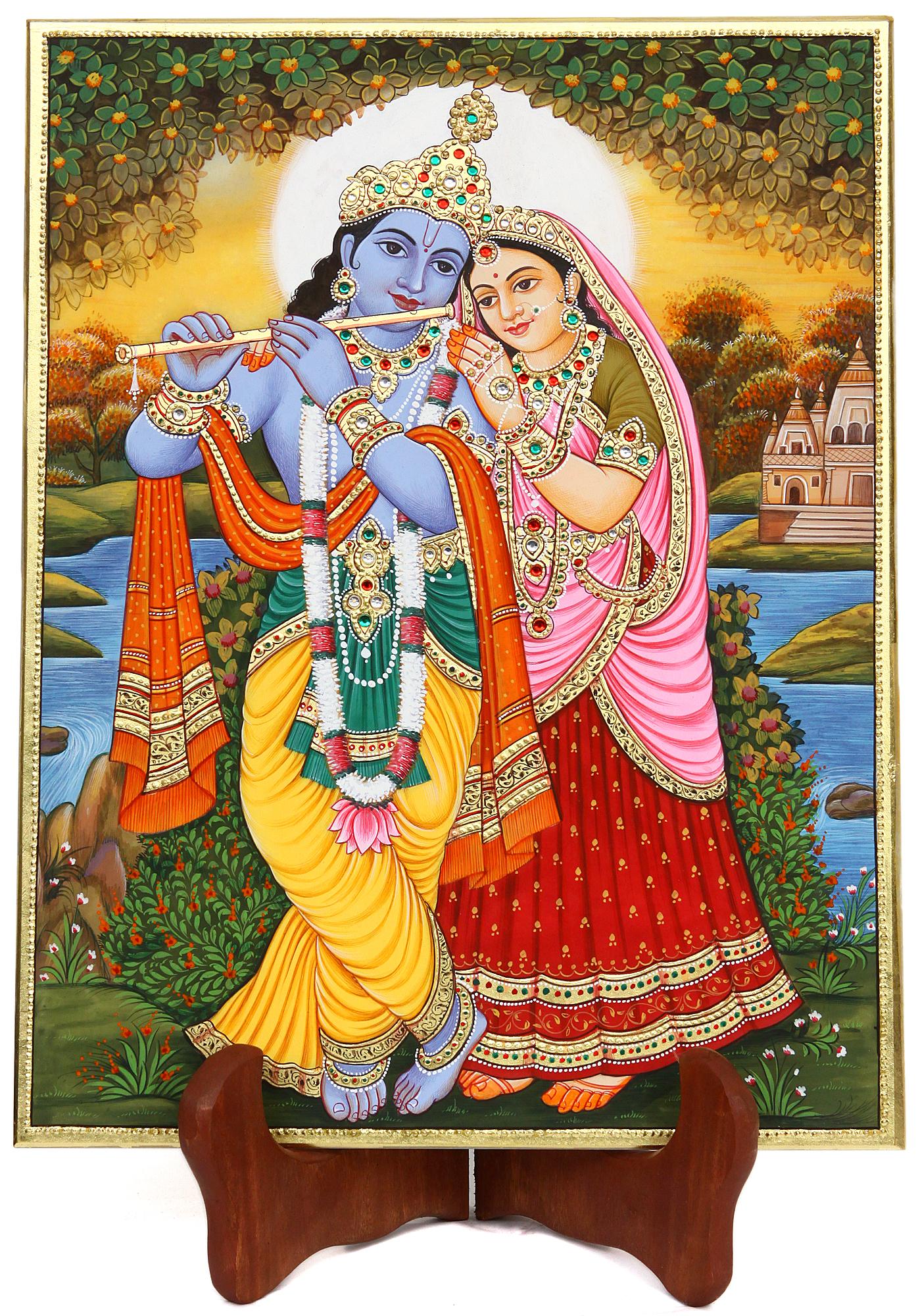 Radha Krishna (Embossed Painting)